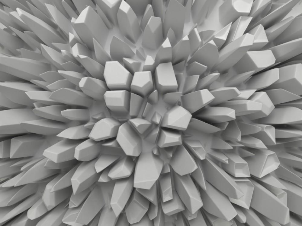 Fototapeta 3d szare kolce XXL czaro-białe optyczne powiększenie