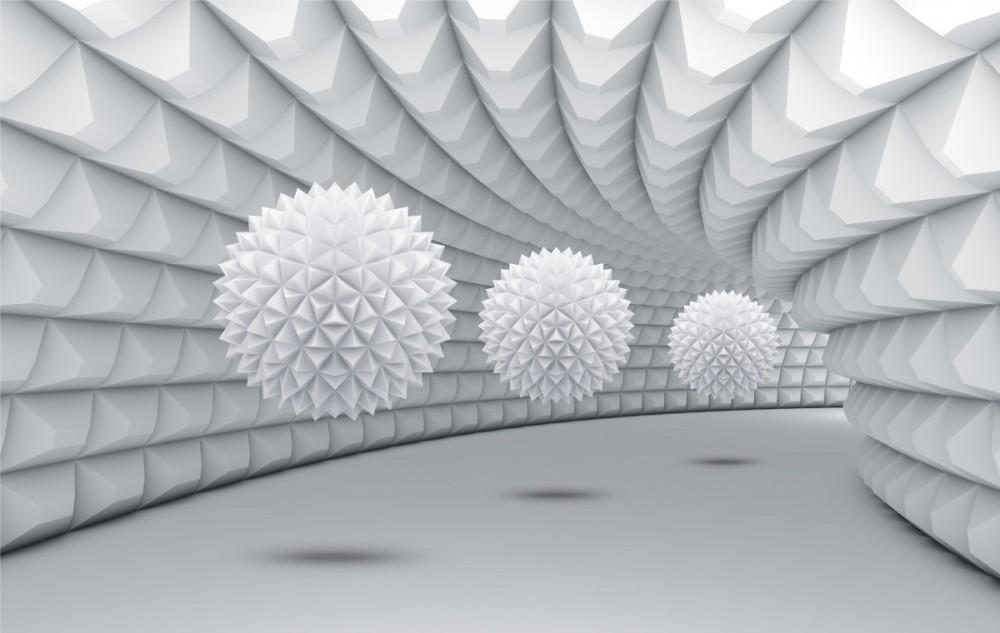 Fototapeta 3d Kolczasty tunel na wymiar