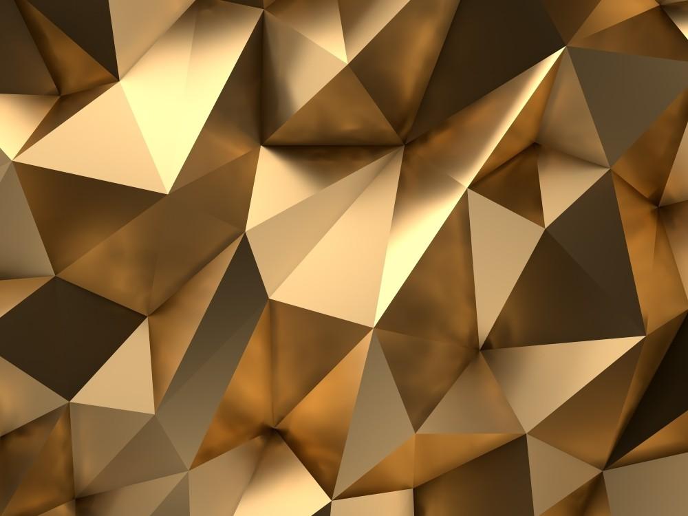 Fototapeta złota ściana