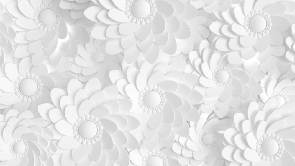 Kwiaty białe 3d