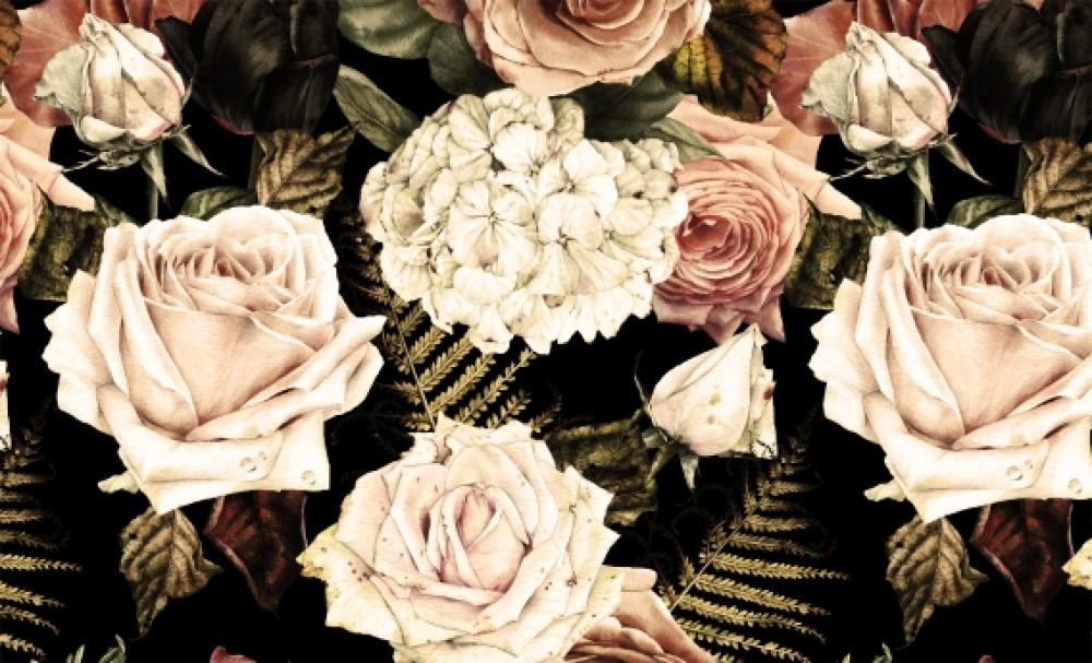 Fototapeta Kwiaty Retro
