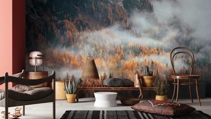 Las we mgle w górach