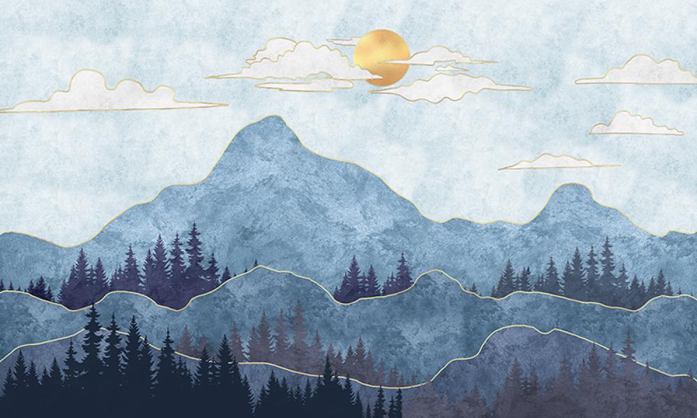 Mural Górski Widok