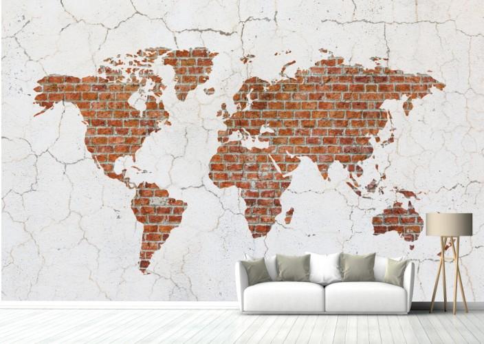 FOTOTAPETA WALL MAP